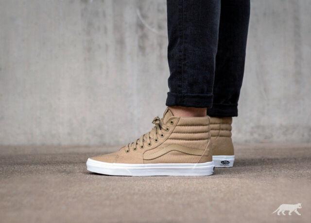 03e5378f NWOB Men's Vans Sk8-Hi Zip *Mono Canvas* (Khaki / True White) VN0A38GEMX4  Shoes