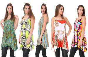 Ladies-Camisole-Cami-Flared-Skater-Womens-Strappy-Vest-Top-Swing-Mini-Dress-8-26