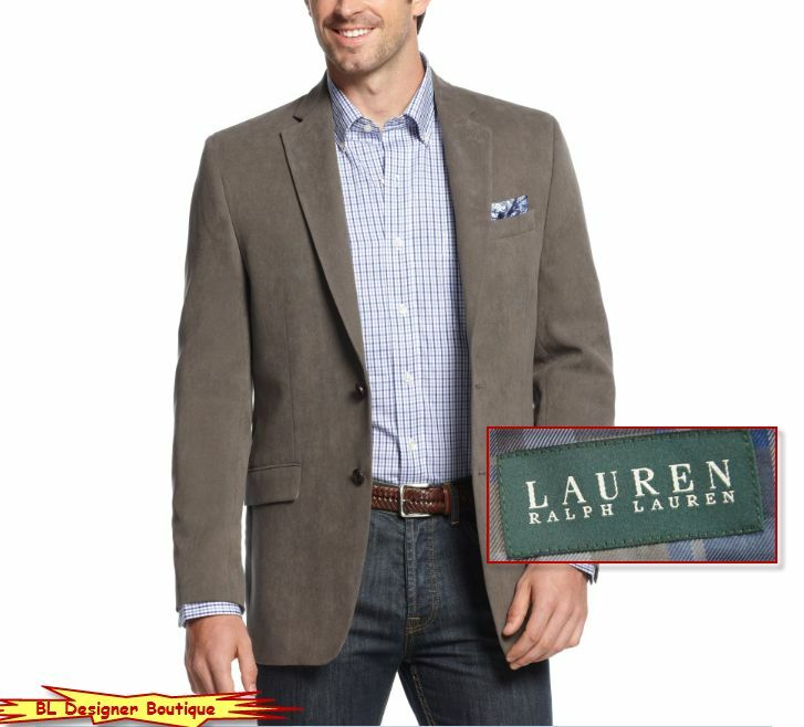 LAUREN RALPH LAUREN Two-Button Notch Lapel Sport Coat Blazers Grau NWT 295