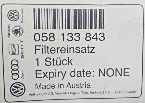 058 133 843 NEW GENUINE VW PASSAT AUDI A4 RS4 B5 SKODA SUPERB AIR FILTER