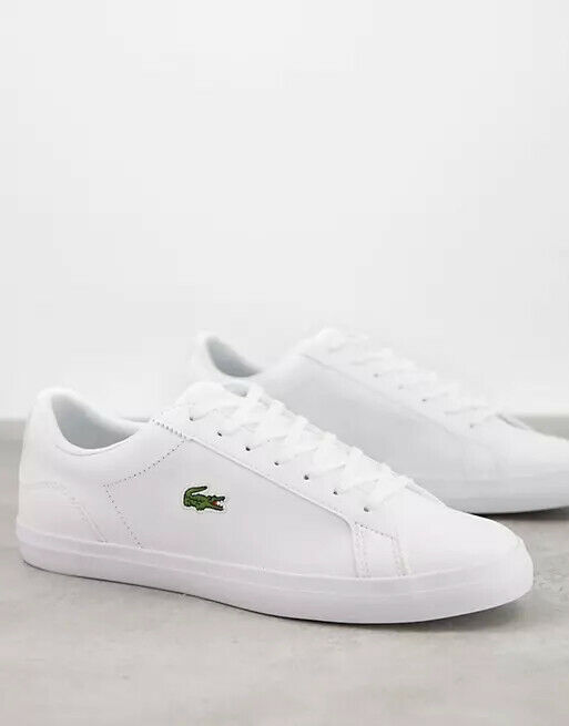 Lacoste lerond BL2 sneakers in white leather US 11