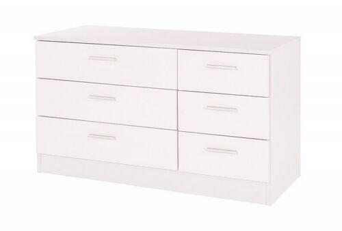 White Gloss Bedroom Furniture Set Chest Wardrobe Dressing Table Bedside Cabinet
