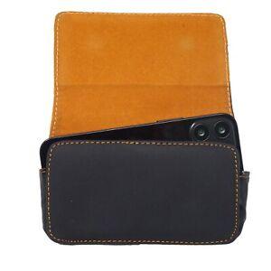 Custodia-simil-pelle-clip-cintura-BROWN-LINE-fondina-per-Apple-iPhone-12-Mini