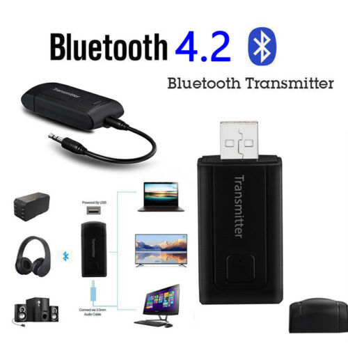 Wireless Bluetooth 4.2 USB Transmitter Audio Music Adapter For TV Phone PC MP3//4