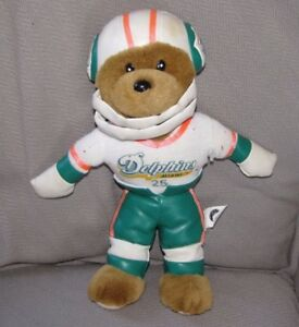 Nanco Stuffed Plush Nfl Football Teddy Bear Miami Dolphins 25 Ebay
