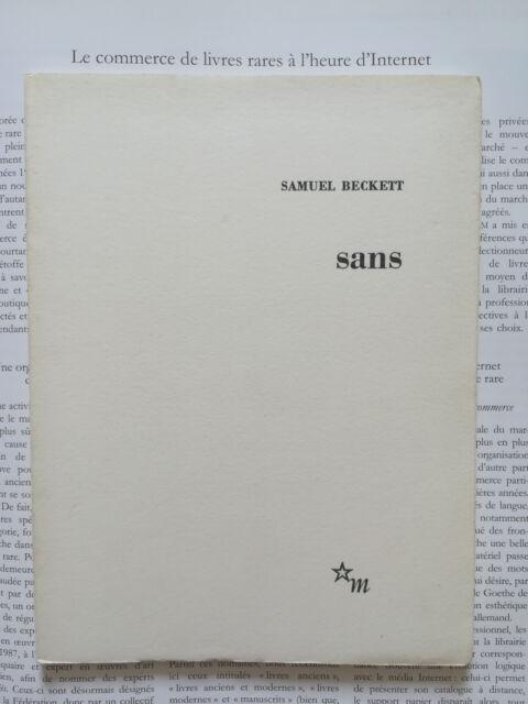 Sans, Samuel Beckett - édition originale 10 octobre 1969