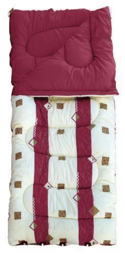 4 Season Single Sleeping Bag 50oz or 60oz in Burgundy or Blue Royal Umbria