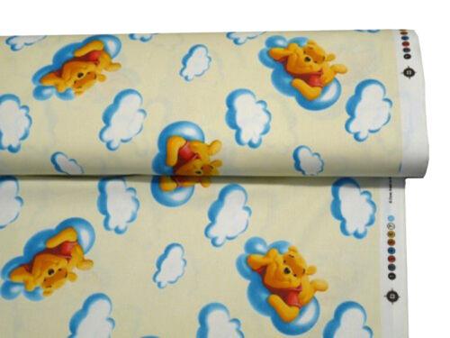 Tessuto cotone stampato WINNIE THE POOH H 280 cm vendita al metro Disney CR1432