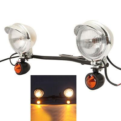 Passing Fog Turn Signals Light Bar For Kawasaki Vulcan VN 800 900 1500 1600 1700