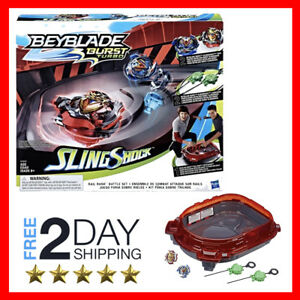 Details about NEW - Beyblade Burst Turbo Slingshock Rail Rush Battle Set  ✅FREE 2DAY SHIPPING