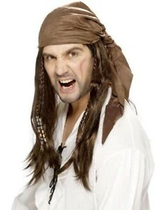 Brown perruque Dreadlock adulte homme Smiffys Costume ROBE FANTAISIE RASTA