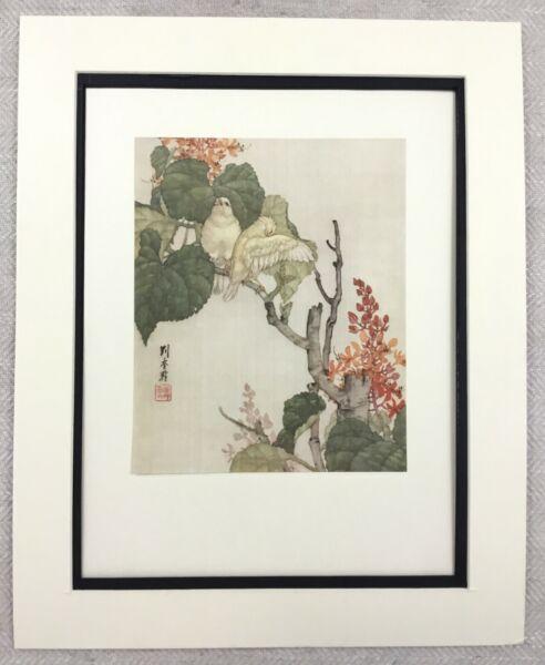 100% De Qualité 1985 Imprimé Chinois Peinture Colombe Blanc Oiseaux Arbre Fleur Liu Kuiling Rare