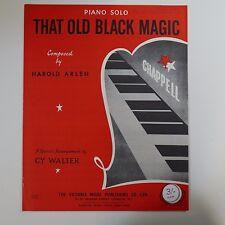 ASSOLO di pianoforte quella vecchia Magia Nera ARR CY Walter