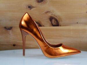 WeeBoo-Orange-Metallic-Hologram-4-034-High-Heel-Shoes-Pointy-Toe-Pump-6-5-11