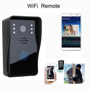 wifi sans fil portier vid o bell t l phone moniteur interphone visuel smart neuf ebay. Black Bedroom Furniture Sets. Home Design Ideas