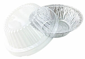 Handi Foil 5 3 4 Quot 12 Oz Aluminum Meat Pot Pie Pan W Clear