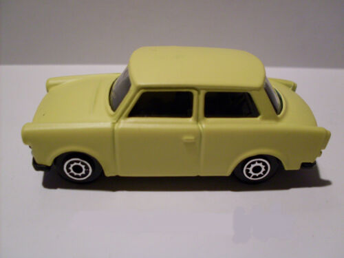 amarillo nuevo reunidos Trabant 601 embalaje original maisto auto modelo 1:64