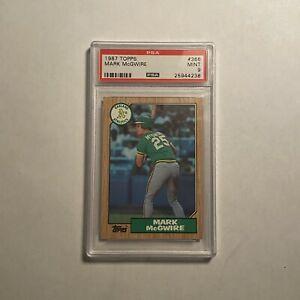 1987-TOPPS-366-MARK-McGWIRE-ATHLETICS-PSA-9-MINT