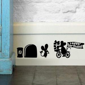 2x-Sticker-Mural-Autocollant-Trou-Souris-Amovible-Pr-Mur-Mural-Chambre-Salon-NF