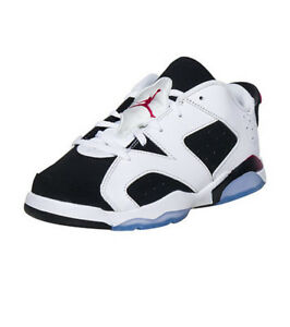 c1408ba31ed Nike Kids' Preschool Jordan RETRO 6 LOW Shoes White/Black/Fuchsia ...