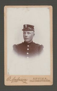 74492-1866-1880-SWEDISH-CDV-REAL-PHOTO-of-UNIFORMED-YOUNG-MAN-ARVIKA-SWEDEN