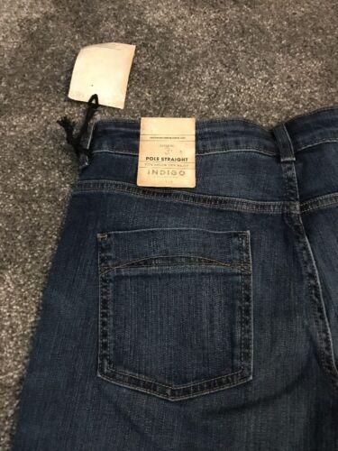 M/&s Indigo Collection POLE STRAIGHT Jeans Size 14 Medium Bnwt Free Sameday P/&p