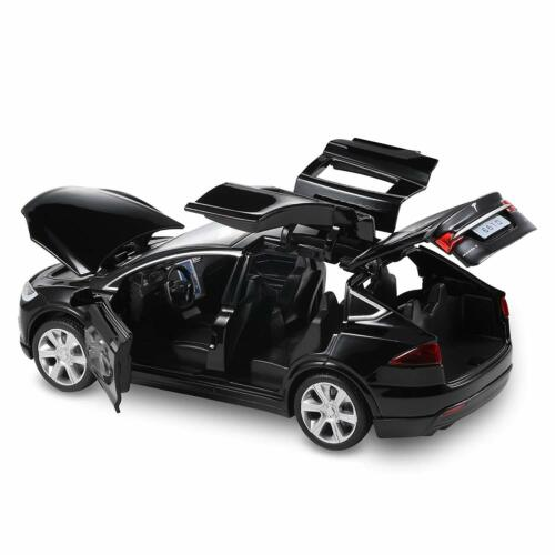 Diecast Tesla Model Toy Cars Alloy Pull Back Car Sound and Light 1:32 UK Stock