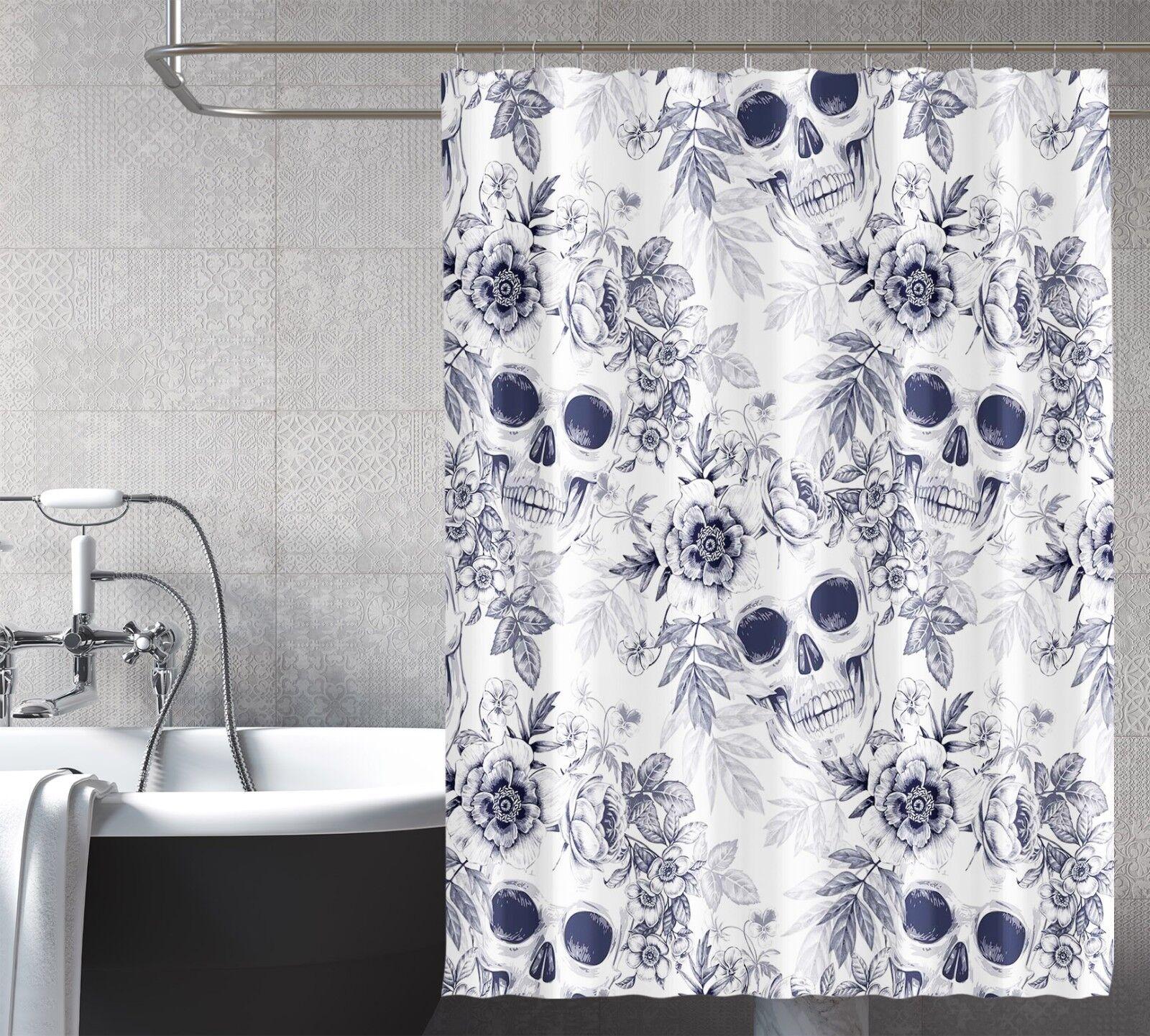 3D Schädel 2 Duschvorhang Wasserdicht Faser Bad Daheim Windows Toilette DE | Ausgezeichnete Leistung
