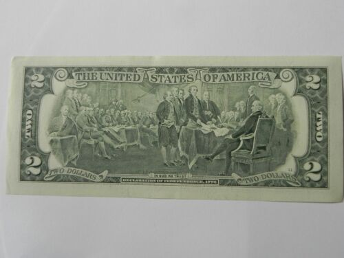 CONSECUTIVE NUMBERS LOT OF 5ea 2009 UNCIRCULATED $2.00 DOLLAR BILLS