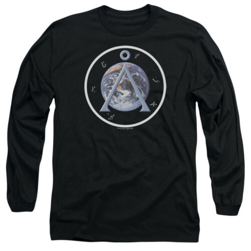Stargate SG-1 Show EARTH EMBLEM Licensed Adult Long Sleeve T-Shirt S-3XL