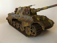 Panzer VI Tiger II Heavy Tank King Tiger 1/35 1:35 Pro built and weathered.
