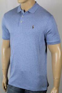 Polo Ralph Lauren Blue Cotton Interlock Shirt Classic Fit Multi Colored Pony NWT