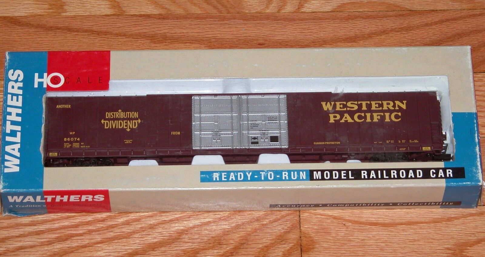 WALTHERS 9323506 PULLuomo STeARD 86' HICUBE scatolaauto 4 di WESTERN PACIFIC WP