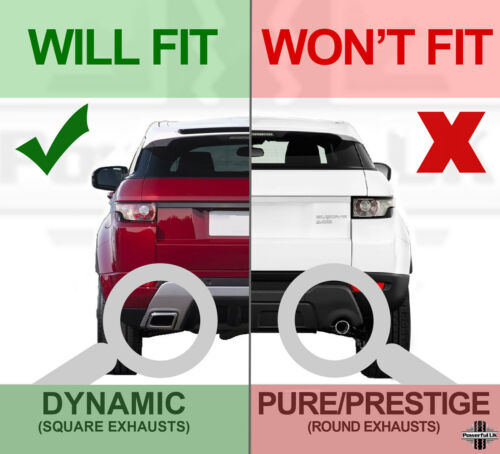 Rear bumper LH insert panel for Range Rover Evoque dynamic exhaust N//S LR028089