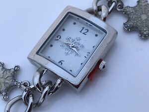 Mixit Christmas Ladies Watch Holidays Analog Charms Silver Tone Wrist Watch