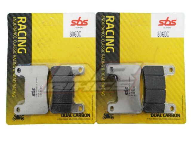 Fits Suzuki GSXR 600 2004 2005 K4 K5 SBS Dual Carbon Front Brake Pads 806DC