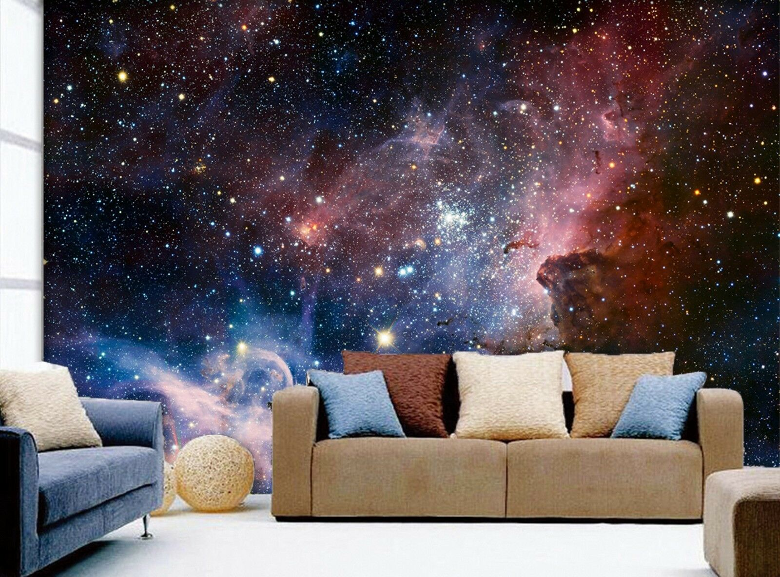 3D universe Starry sky Wall Paper Print Decal Wall Deco Indoor wall Mural