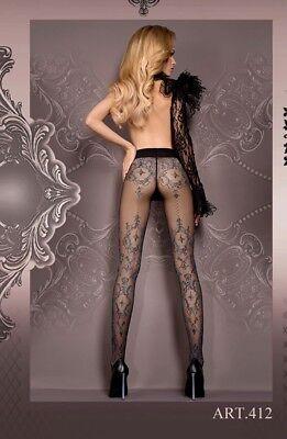 BALLERINA Luxury Sheer Plain 50 Denier Tights BLACK Ladies Plus Size 8//20 UK 105