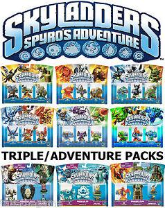 Skylanders-Spyro-039-s-Adventure-Triple-Figures-Adventure-Packs-NEW-SEALED