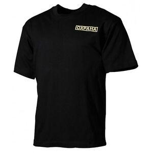Herren-T-Shirt-Sweatshirt-Hemd-Oxpaha-Ochranka-Halbarm-100-Baumwolle-schwarz