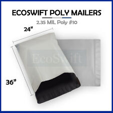 1 24 X 36 Large White Poly Mailers Shipping Envelopes Self Sealing Bags 235 Mil