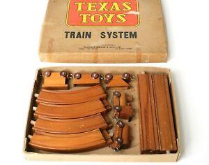 Système de train en bois Texas Toys Vintage des années 1960 et 1970