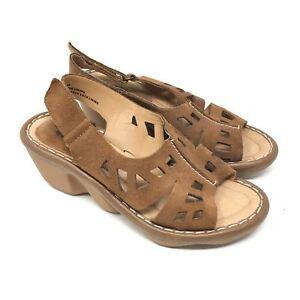 c21fa432b Women s Earth Stargaze Sandals Shoes Size 7.5B Brown Suede Slingback ...