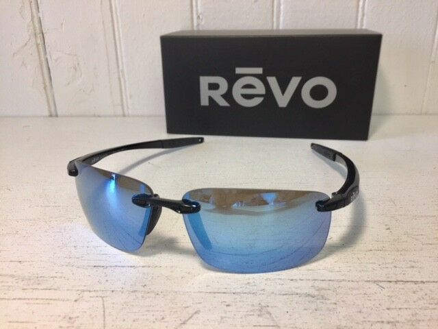 1168b9d1a7 REVO Re4059 01 BL Descend N Black W  Blue Water Polarized Lenses Sunglasses  for sale online