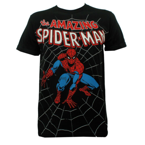 Authentic THE AMAZING SPIDER-MAN Classic Comic Allover Print T-Shirt S-2XL NEW