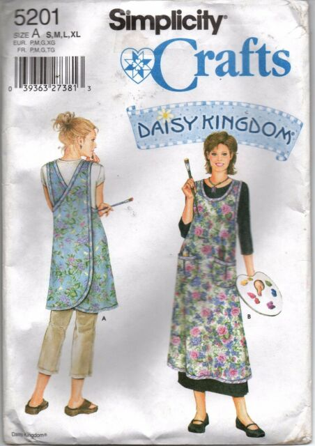 Simplicity 40 Daisy Kingdom Wrap Around Apron Sz Smxlg Sewing Awesome Simplicity Apron Patterns