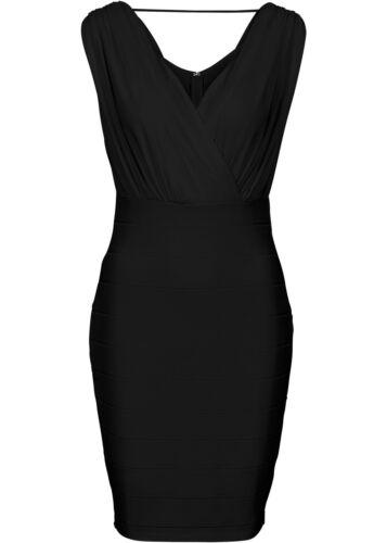 Gr Q6763-904918 36 Schönes Kleid in Wickel Optik in Schwarz