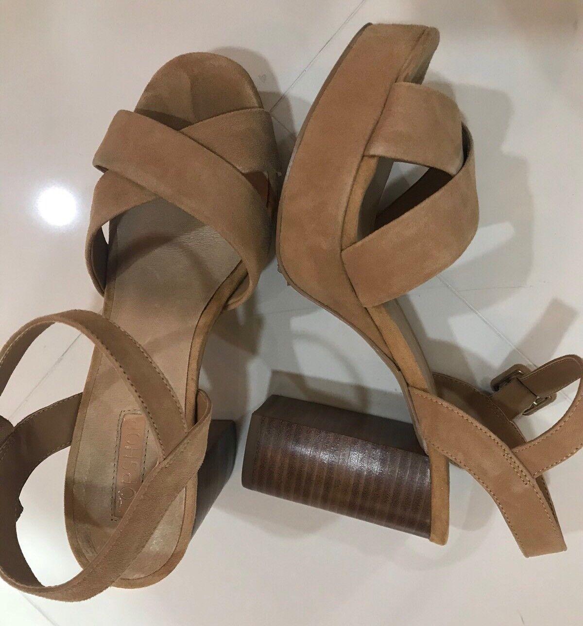 Topshop Topshop Topshop Platform Suede Leather Tan Sandals Größe 7.5 (38) 4a2a2a