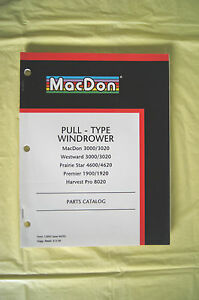 Details about MacDon Windrower Westward Prairie Star Premier Harvest Pro  parts catalog Canada