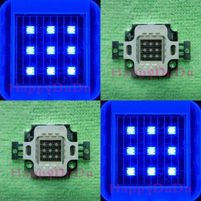 10pcs 10W Blue 450nm-455nm High Power Bright 300LM LED Lamp Light for Aquarium